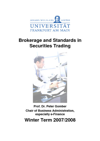Vorschau: Brokerage and Standards in Securities Trading: Skript