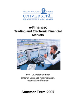 Vorschau: Trading and Electronic Financial Markets: Vorlesungsscript