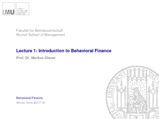 Vorschau: Behavioral Finance: Skript