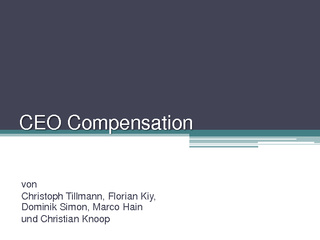 Vorschau: Management: CEO-Compensation